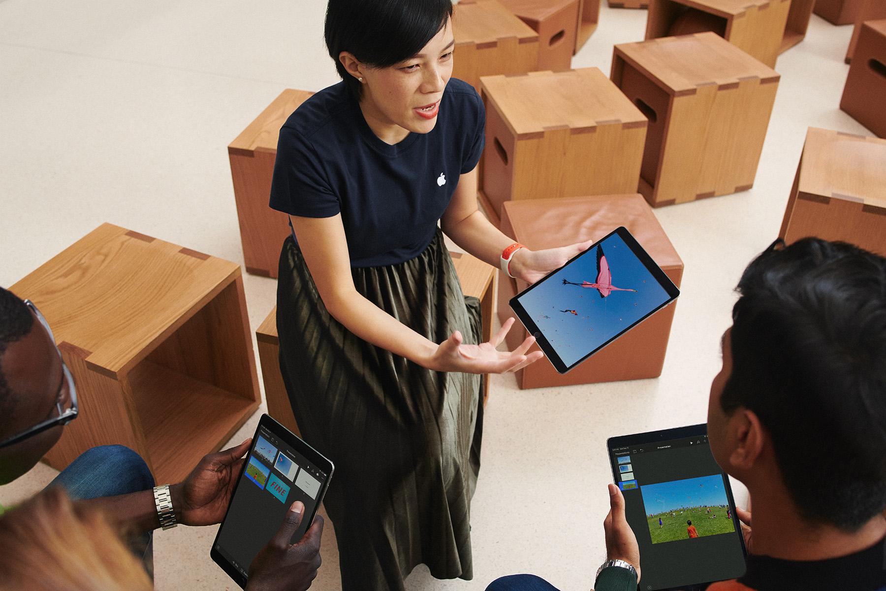 Leerkracht met iPad