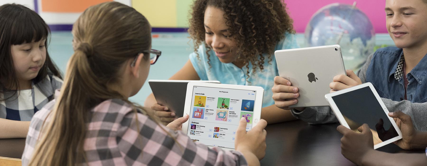leerlingen gebruiken apple producten