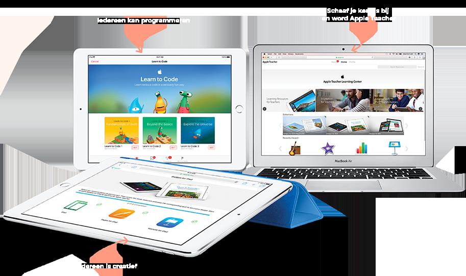 Apple programma's voor leerkrachten
