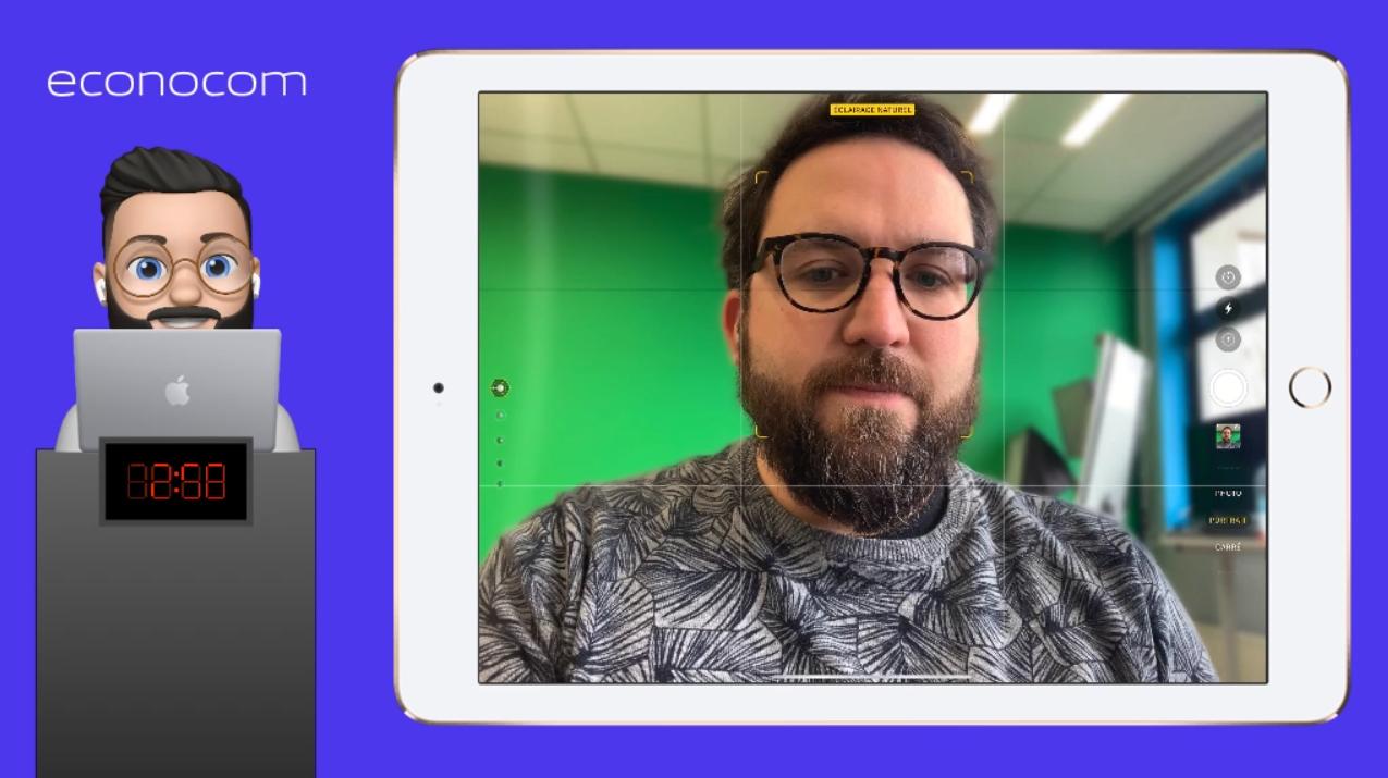 Se présenter avec l'iPad et Animoji