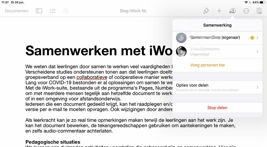 Samenwerken met iWork